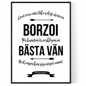 Livet Med Borzoi Poster