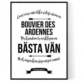 Livet Med Bouvier Des Ardennes Poster