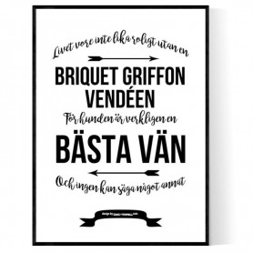 Livet Med Briquet Griffon Vendéen Poster