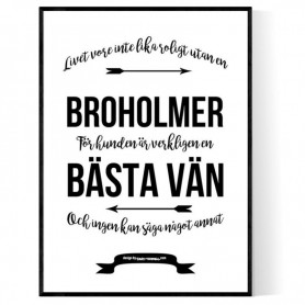 Livet Med Broholmer Poster