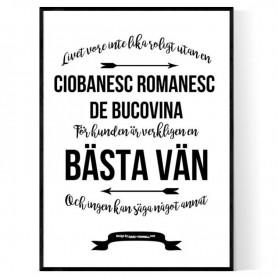 Livet Med Ciobanesc Romanesc de Bucovina Poster